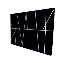 Canvas 36 x 48 - 3D - White stripes on black background