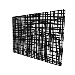Canvas 36 x 48 - 3D - Abstract small stripes