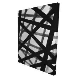 Canvas 36 x 48 - 3D - Abstract bold lines