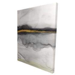 Canvas 36 x 48 - 3D - Gold stripe abstract