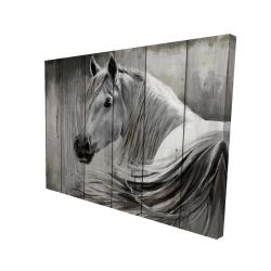 Canvas 36 x 48 - 3D - Rustic horse
