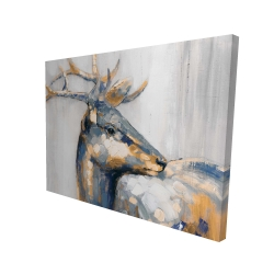 Canvas 36 x 48 - 3D - Golden deer