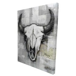Canvas 36 x 48 - 3D - Industrial style bull skull