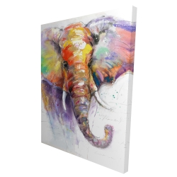 Canvas 36 x 48 - 3D - Beautiful and colorful elephant