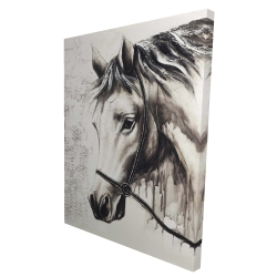 Canvas 36 x 48 - 3D - Alpha the white horse