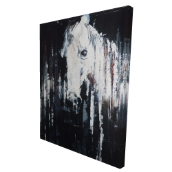 Canvas 36 x 48 - 3D - Abstract horse on black background
