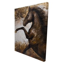 Canvas 36 x 48 - 3D - Horse rushing into the soil