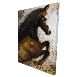 Canvas 36 x 48 - 3D - Horse rushing into the dust