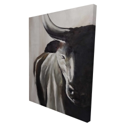 Canvas 36 x 48 - 3D - Bull head front view