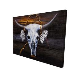 Canvas 36 x 48 - 3D - Hanged bull skull