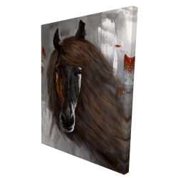 Canvas 36 x 48 - 3D - Proud brown horse