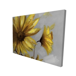 Canvas 36 x 48 - 3D - Mountain arnica flowers