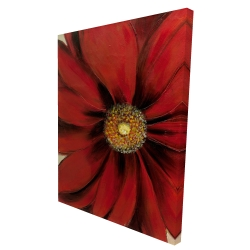 Canvas 36 x 48 - 3D - Red daisy
