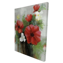 Canvas 36 x 48 - 3D - Abstract wild flowers bundle