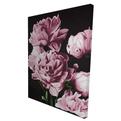 Canvas 36 x 48 - 3D - Pink peonies