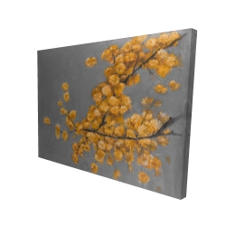 Canvas 36 x 48 - 3D - Golden wattle plant with pugg ball flowers