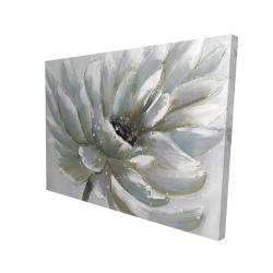 Canvas 36 x 48 - 3D - White chrysanthemum