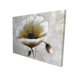Canvas 36 x 48 - 3D - Modern beige flower
