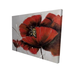 Canvas 36 x 48 - 3D - Red poppy flowers