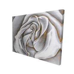 Canvas 36 x 48 - 3D - White rose delicate