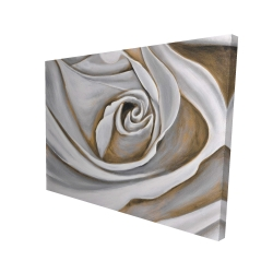 Canvas 36 x 48 - 3D - White rose closeup