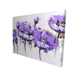 Canvas 36 x 48 - 3D - Abstract purple flowers