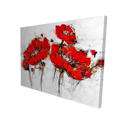 Canvas 36 x 48 - 3D - Abstract poppy flowers
