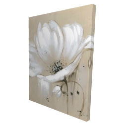 Canvas 36 x 48 - 3D - White abstract wild flower