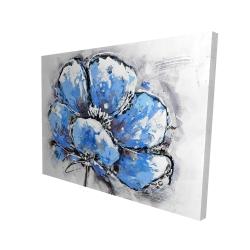 Canvas 36 x 48 - 3D - Abstract blue petals