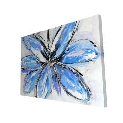 Canvas 36 x 48 - 3D - Blue flower