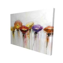 Canvas 36 x 48 - 3D - Multiple colorful abstract flowers