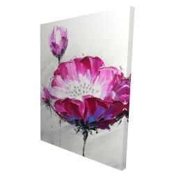 Canvas 36 x 48 - 3D - Fuchsia wild flower