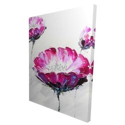 Canvas 36 x 48 - 3D - Pink wild flowers