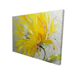 Canvas 36 x 48 - 3D - Yellow flower