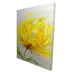 Canvas 36 x 48 - 3D - Yellow fluffy flower