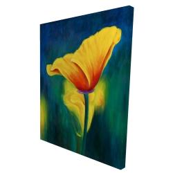 Canvas 36 x 48 - 3D - Superb contrast flowers