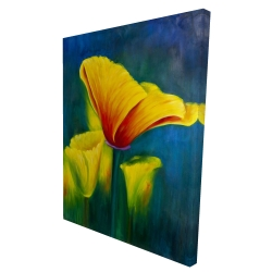 Canvas 36 x 48 - 3D - Beautiful colorful flowers
