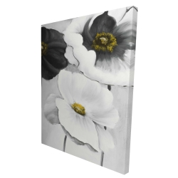 Canvas 36 x 48 - 3D - Assorted white flowers