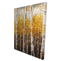 Canvas 36 x 48 - 3D - Birches by sunny day