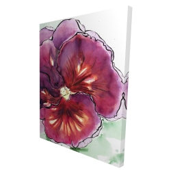Canvas 36 x 48 - 3D - Blossoming orchid with wavy petals