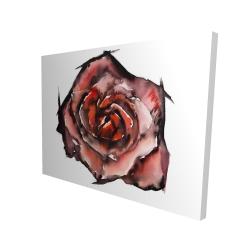 Canvas 36 x 48 - 3D - Watercolor rose