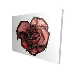 Canvas 36 x 48 - 3D - Dark rose