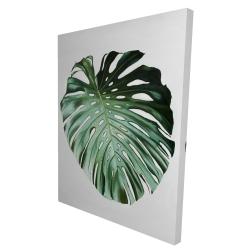Canvas 36 x 48 - 3D - Monstera leaf