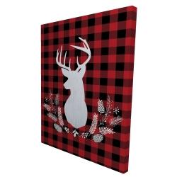 Canvas 36 x 48 - 3D - Deer plaid