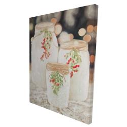 Canvas 36 x 48 - 3D - Christmas candles