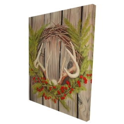 Canvas 36 x 48 - 3D - Christmas wreath with panache
