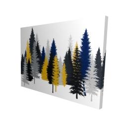 Canvas 36 x 48 - 3D - Golden fir