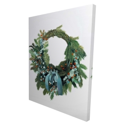 Canvas 36 x 48 - 3D - Christmas wreath