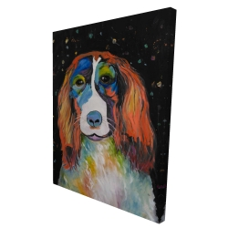 Canvas 36 x 48 - 3D - Colorful dog