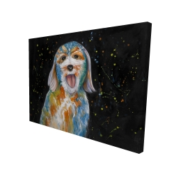 Canvas 36 x 48 - 3D - Abstract labradoodle